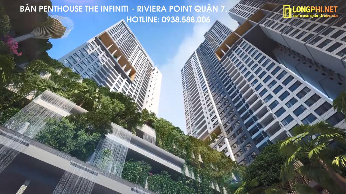 Căn hộ Penthouse dự án The Infiniti là penthouse đẳng cấp nhất tại khu phức hợp Riviera Point thời điểm này.