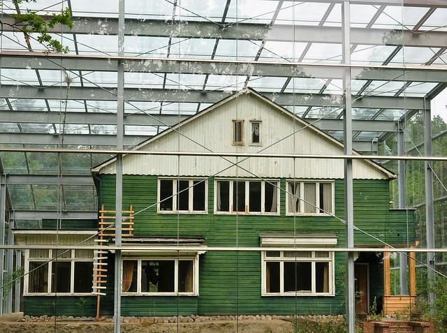 Het groene huis achter ramen ...HWW