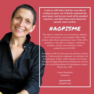 Laura #AOPISME | by The American Opera Project