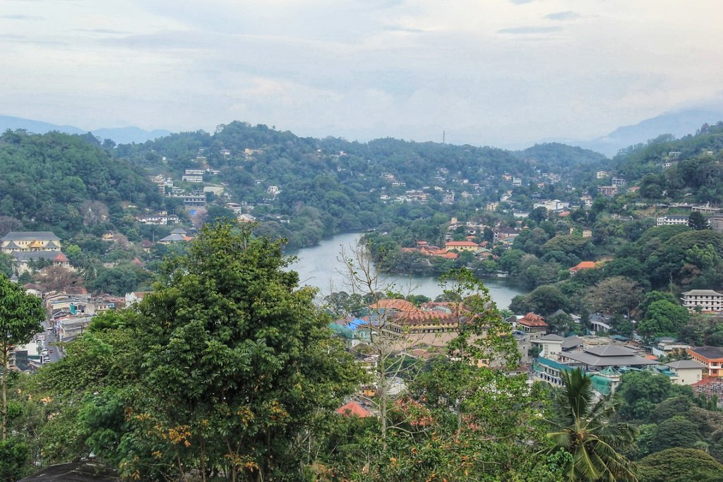 Views of Kandy from Sri Maha Bodhi Temple