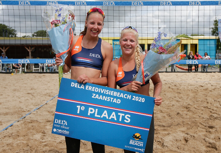 Stam/Schoon en Van Tilburg/Boehlé winnen openingstoernooi DELA Eredivisie