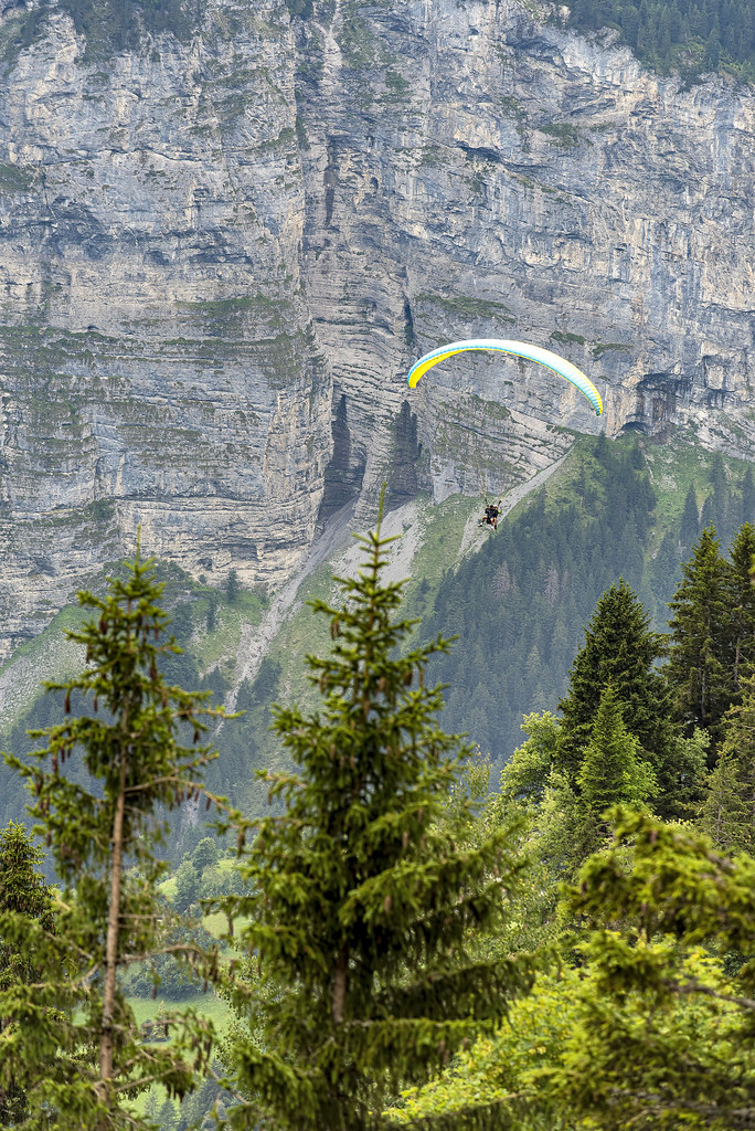 Paragliding in Mürren, Switzerland