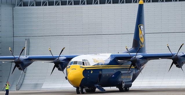 The new Blue Angels Lockhead Martin C-130J Hercules Fat Albert