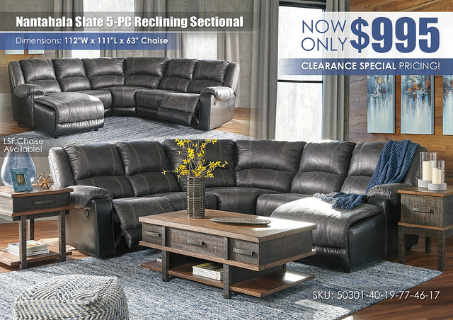 Nantahala Slate 5-PC Reclining Sectional_50301-40-19-77-46-17-T892