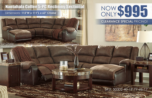 Nantahala Coffee 5-PC Reclining Sectional_50302-40-19-77-46-17-T687