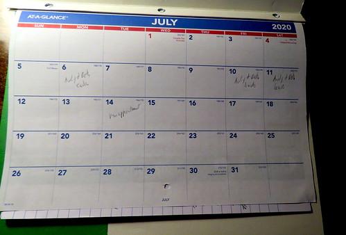 July 2020 Diary
