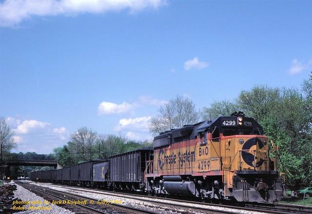 Chessie BO 4299, Relay, MD. 5-09-1984