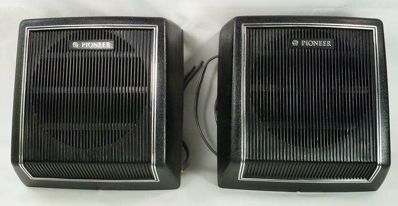 RD29659 Vintage 1968 Pioneer Car Stereo Speaker System TS-20 Pair in Original Box DSC08655