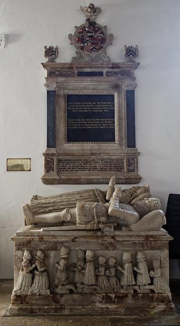 17th-century Henry Maynard monument Church of St Mary Little Easton Essex England