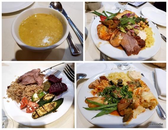 Jerusalem Restaurant buffet plates