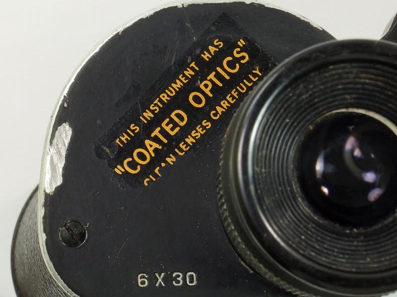 RD24853 Vintage 1942 WW2 US Army M-3 6X30 Field Binoculars DSC08669