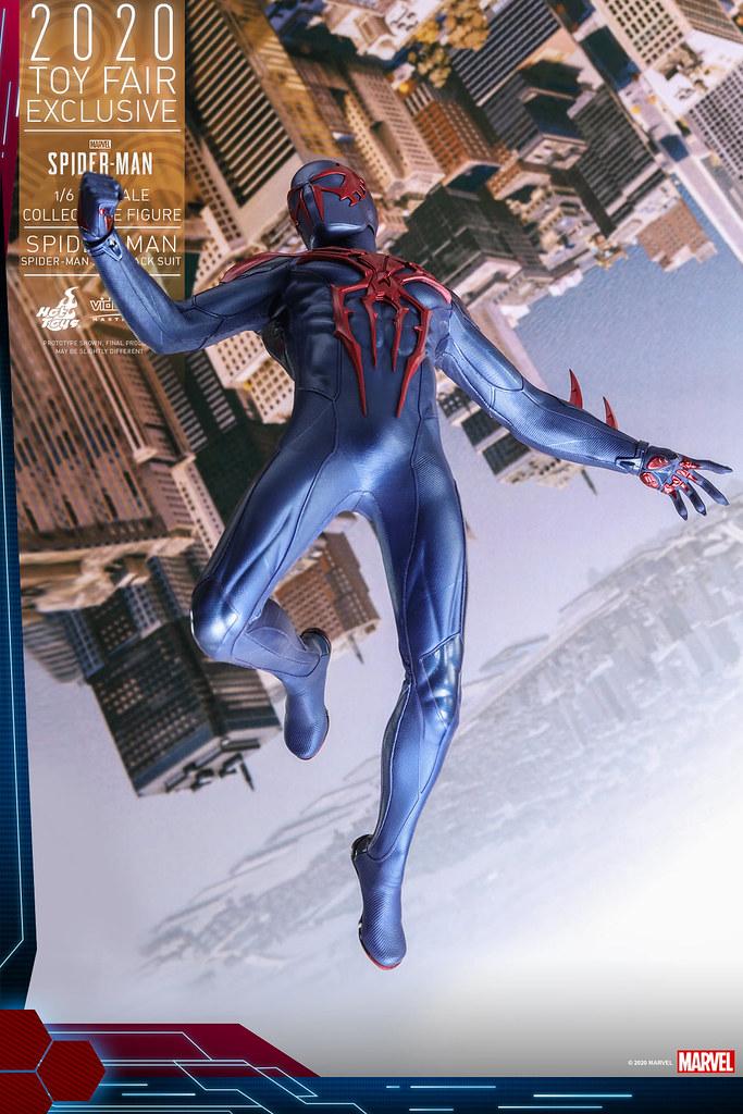 極具侵略感的紅色骷髏超煞氣! Hot Toys –  VGM42 -《漫威蜘蛛人》蜘蛛人(蜘蛛人 2099 黑色戰衣)(Spider-Man (Spider-Man 2099 Black Suit))1/6 比例人偶【香港動漫電玩節限定】