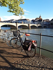 bicycles and a bridge