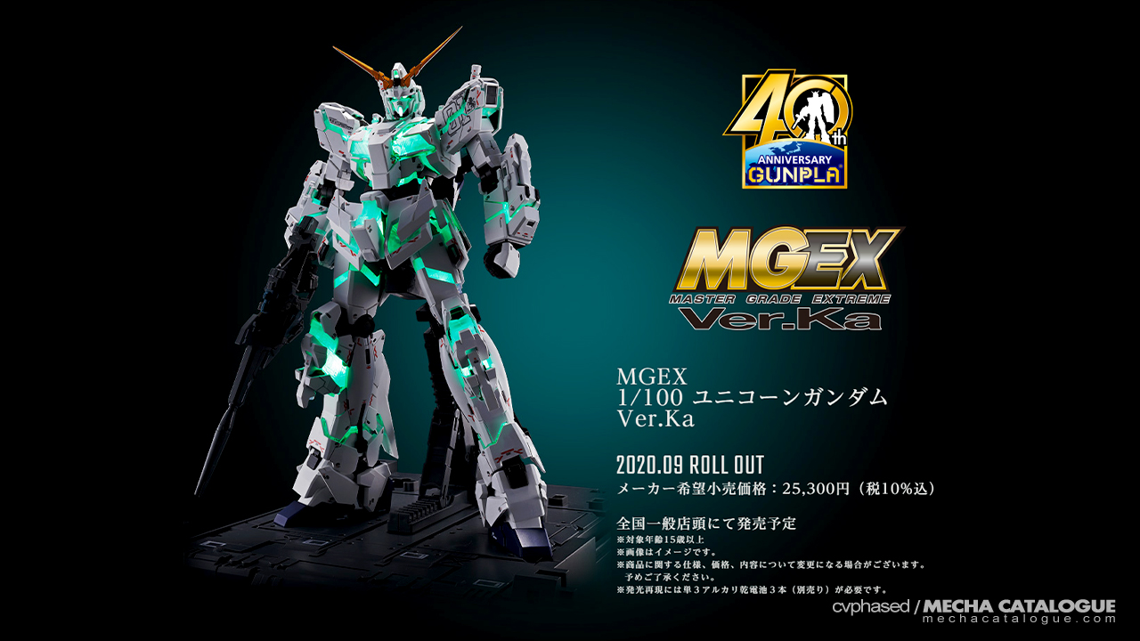 That Moniker is so 90s: MGEX Unicorn Gundam Ver.Ka