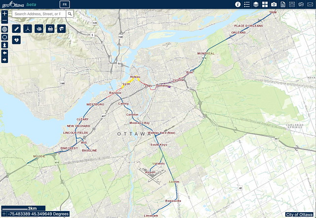 geoOttawa beta - Ottawa LRT Lines 1 and 2 Stage 2