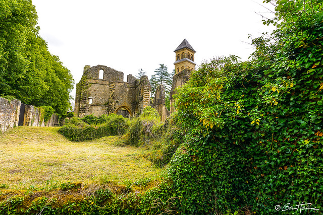 Orval Abbey ruins and church - Abbaye d'Orval, Eglise et ruines - Ben Heine Photography