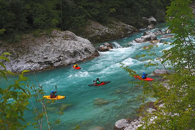 Soča river fun