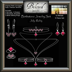 Beloved Jewelry : July Birthstone Set (9 Pieces)
