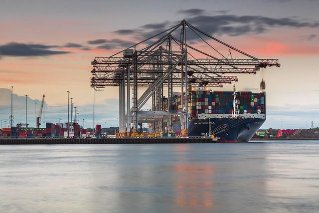 Southampton Docks Sunset