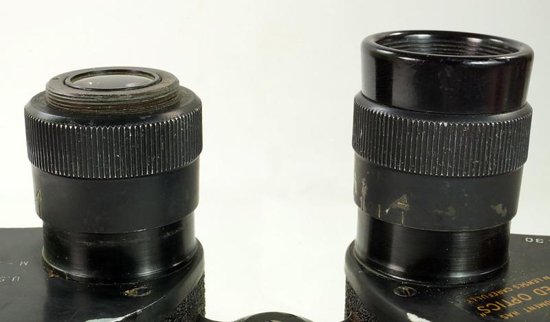 RD24853 Vintage 1942 WW2 US Army M-3 6X30 Field Binoculars DSC08677