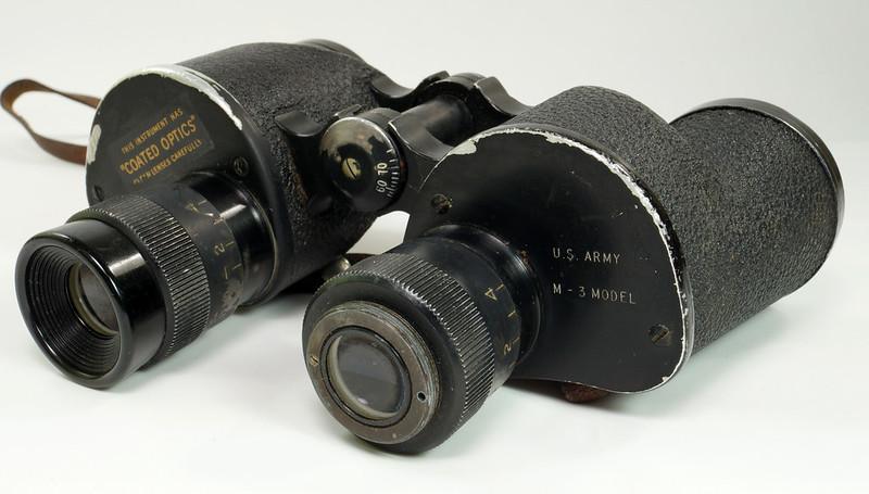 RD24853 Vintage 1942 WW2 US Army M-3 6X30 Field Binoculars DSC08678