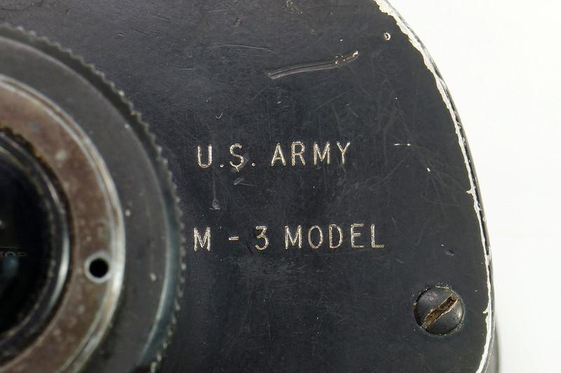RD24853 Vintage 1942 WW2 US Army M-3 6X30 Field Binoculars DSC08668