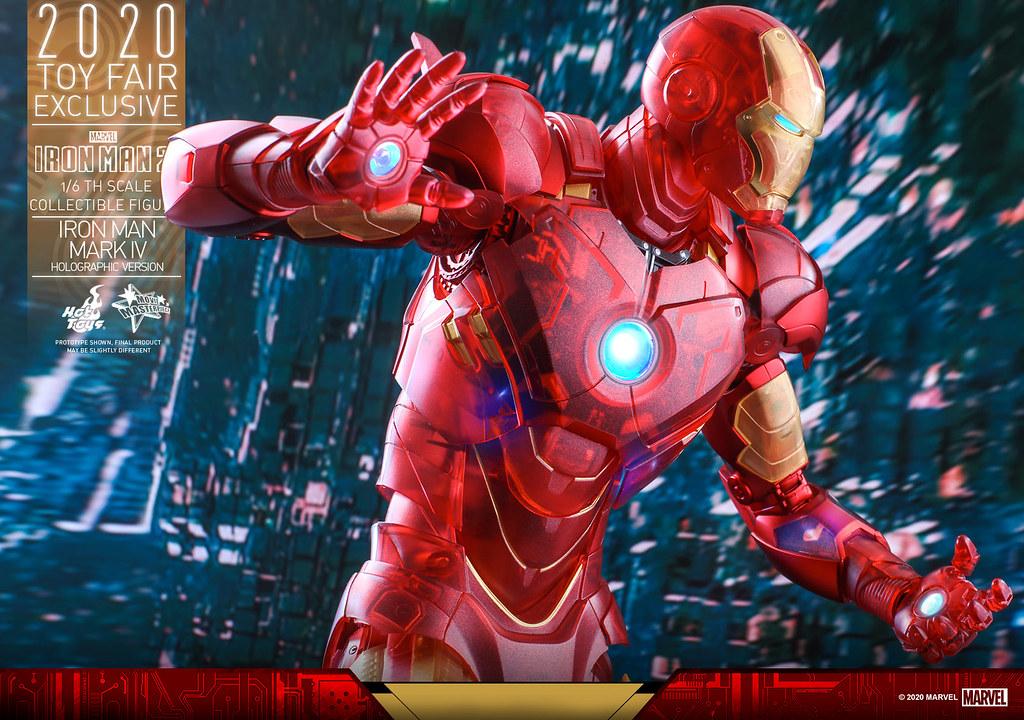 可一窺內部複雜機構的特殊視覺效果! Hot Toys - MMS568 -《鋼鐵人2》鋼鐵人馬克4 (全息影像版本)(Iron Man Mark IV (Holographic Version))1/6 比例人偶【香港動漫電玩節限定】