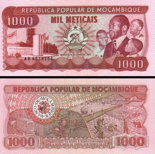 1000 Meticais Mozambik 1980, P128