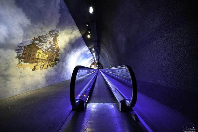Way to the Jungfraujoch Ice Palace - Bern/Wallis - Switzerland