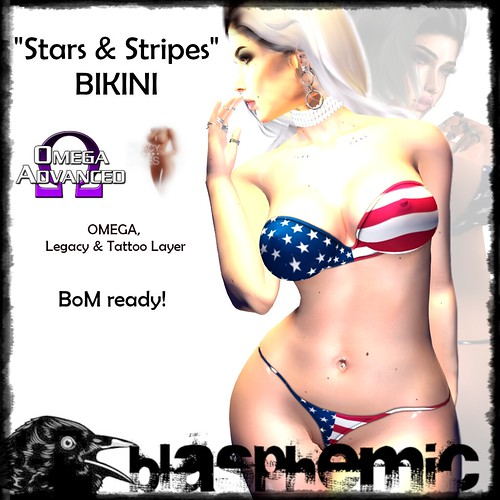 BLASPHEMIC - STARS & STRIPES BIKINI