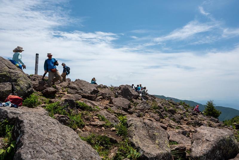 烏帽子岳の山頂