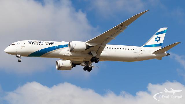 TLV - El Al Being 787-9 4X-EDC