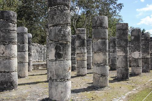 The Hall of the Thousand Columns (Grupo de las Mil Columnas), Chichen Itza, Mexico's Yucatán Peninsula