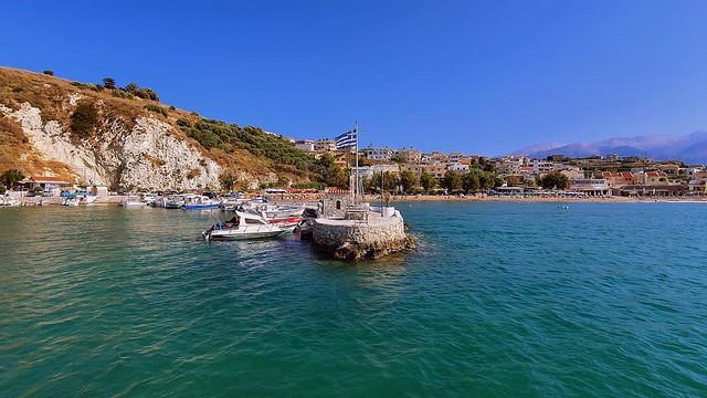 Village besides the sea