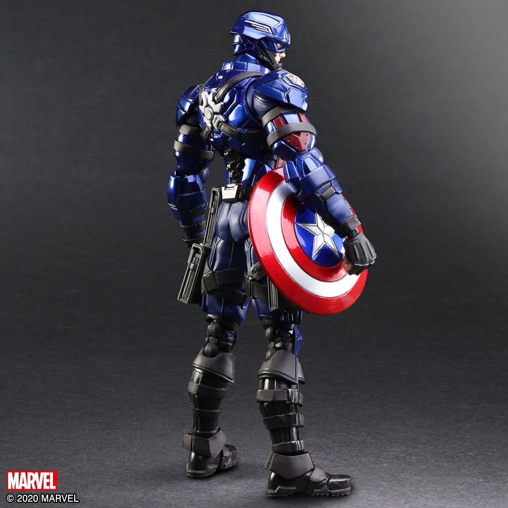 具重量感的裝甲嶄新風格~BRING ARTS「MARVEL UNIVERSE VARIANT」野村哲也設計 變體版「美國隊長」可動人偶(キャプテン・アメリカ)