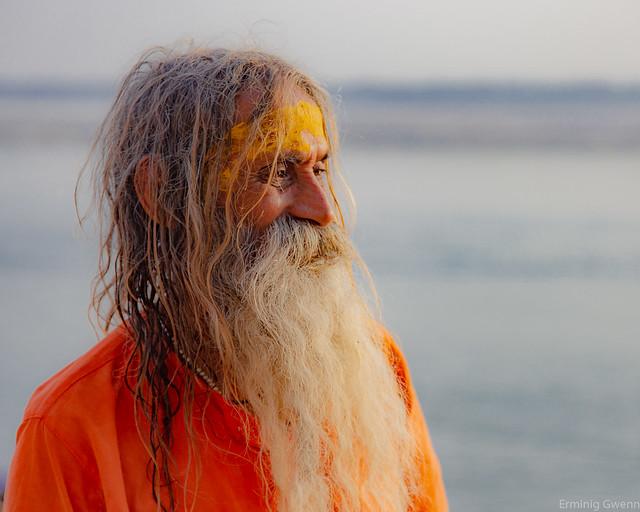 L'homme au regard tranquille - Varanasi, Inde