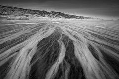 Black and white ice, Baikal lake, Russia