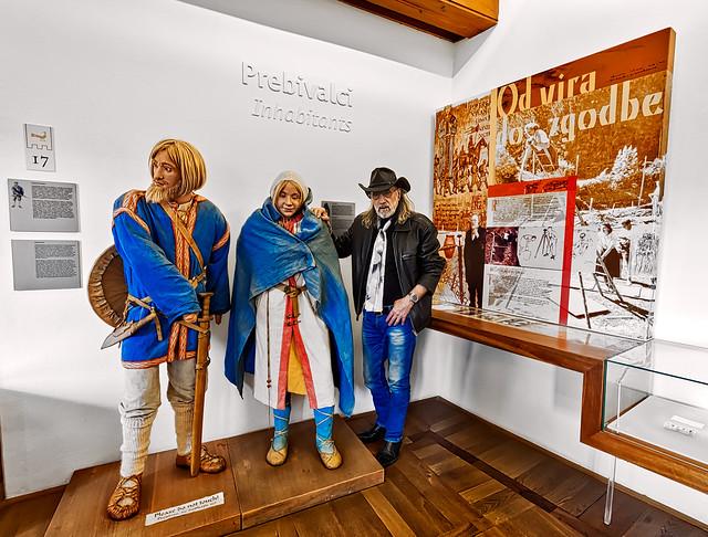 Bled Castle - Portrait of Mr. Bounty Killer with his ancestors
