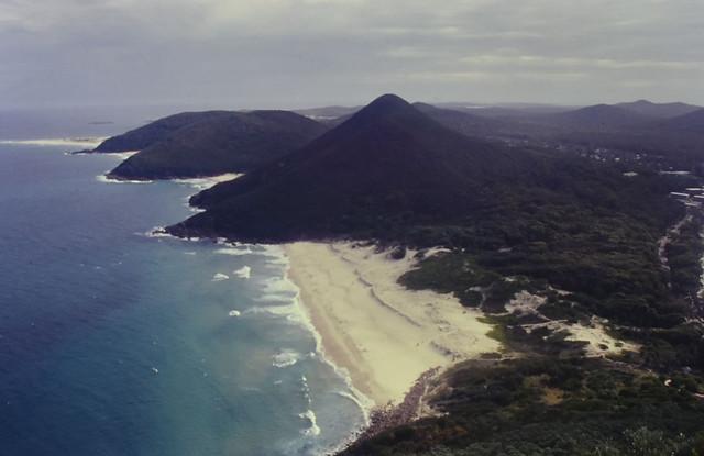 Zenith Beach, from Tomaree Head, Nelson Bay, NSW, 16/01/00