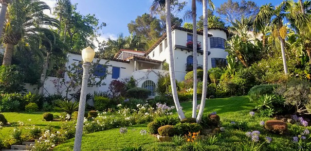 Beautiful historic estate near Griffith Observatory in Los Angeles.