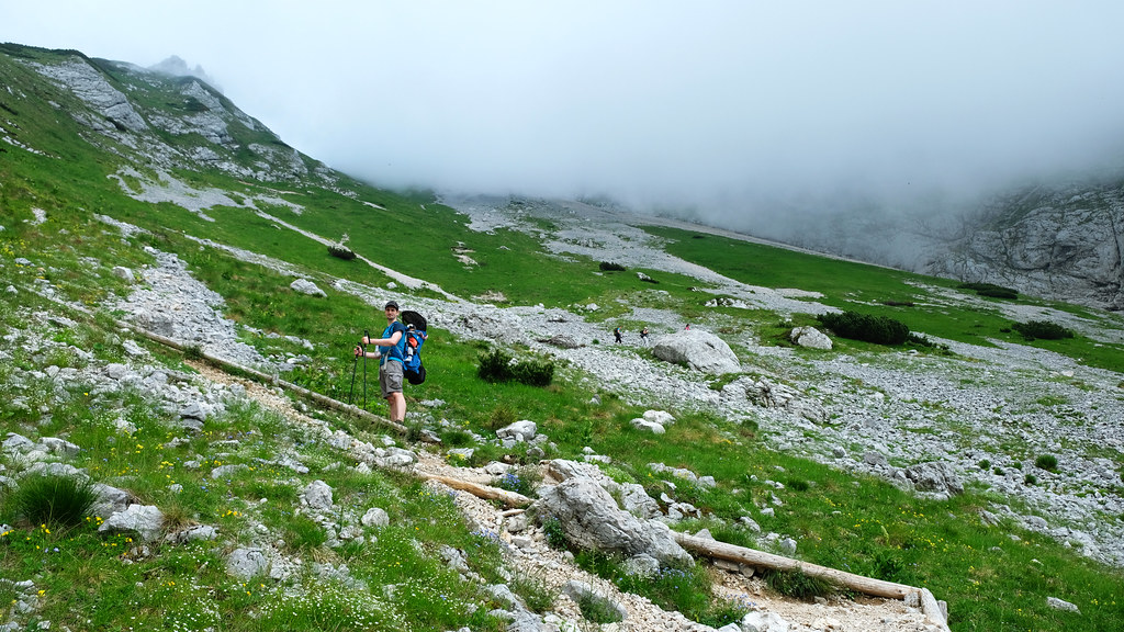 On the way to Kamnik Saddle, Kamnik-Savinja Alps, Slovenia