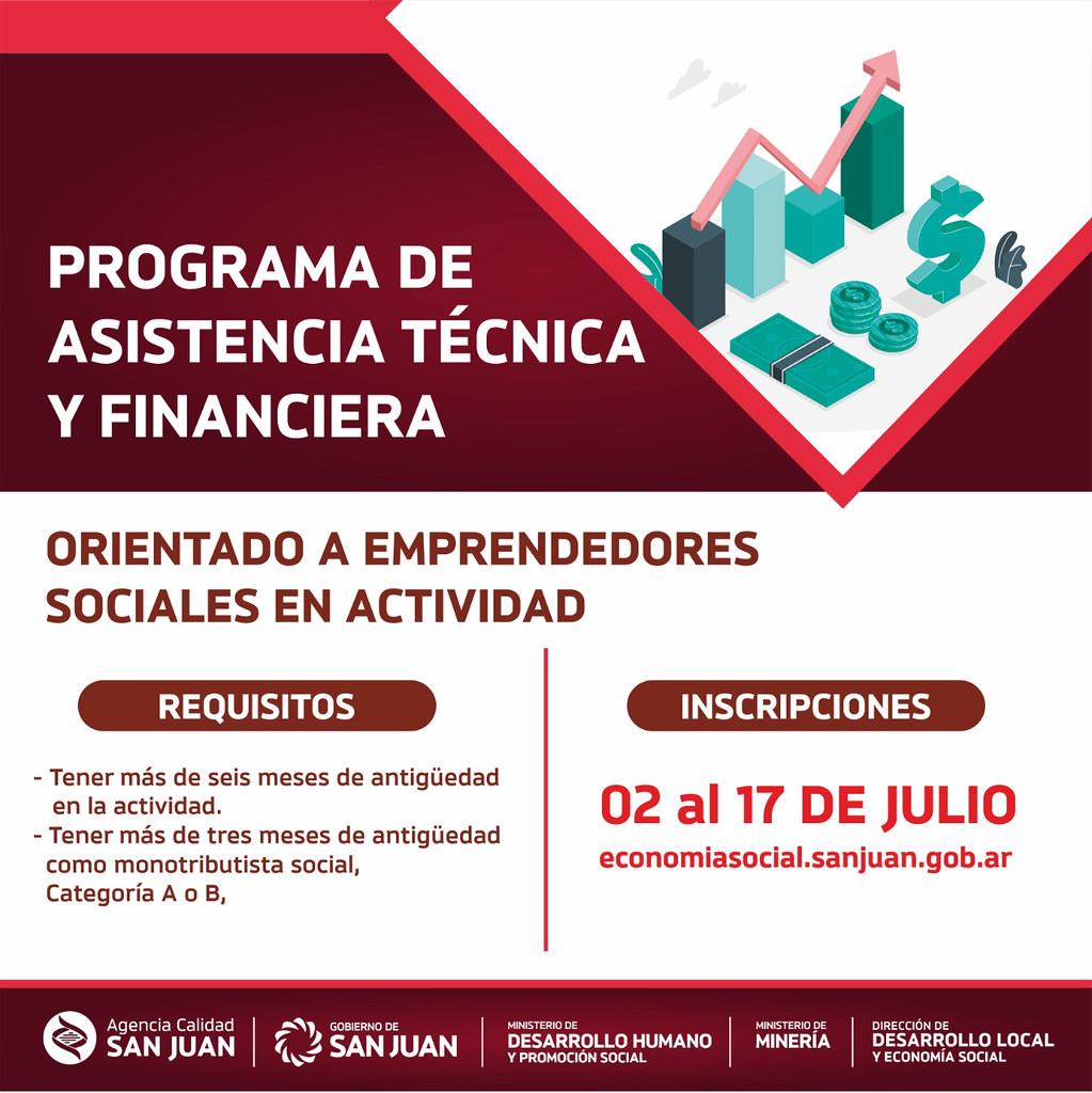 2020-07-01: DESARROLLO HUMANO: Presentación Programa de Asistencia Técnica y Financiera para Emprendedores Sociales