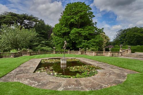 newbyhall garden pool statue yorkshire uk olympus omdem1markiii 12100 f4