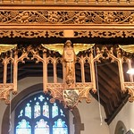 Wilmington, Kent, St Michael and All Angels, cresting on rood screen