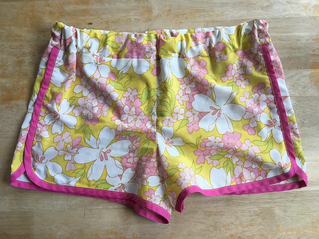 City Gym Shorts made from vintage sheets