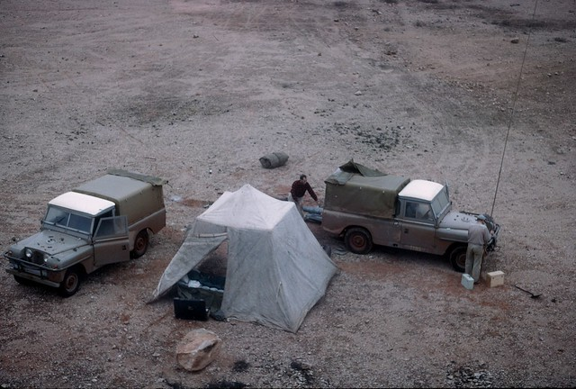 B2R21-19 Camp scene in a gravel pit West of Reid on the Transcontinental Railway Line.