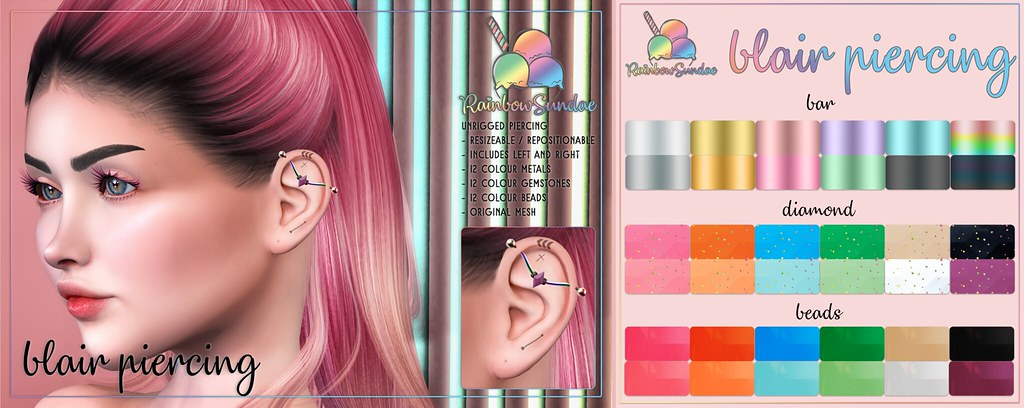 *Rainbow Sundae* Blair Piercing – The Liaison Collaborative