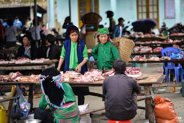 Morning market - Ha Giang, Vietnam
