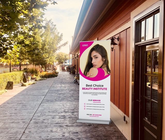 Beauty Roll up or Stand banner