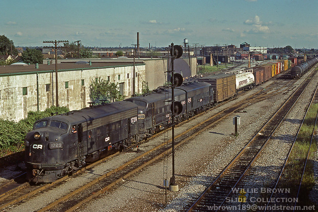 F7A 1729 {ex-NYC 1729 built 4/52} at Cleveland, Ohio on 9/1/78.